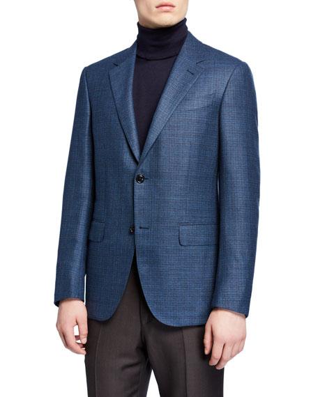 Ermenegildo Zegna Men's Textured Wool Regular-Fit Blazer