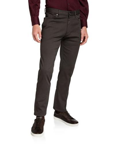 Men's 5-Pocket Straight-Leg Cotton Canvas Pants