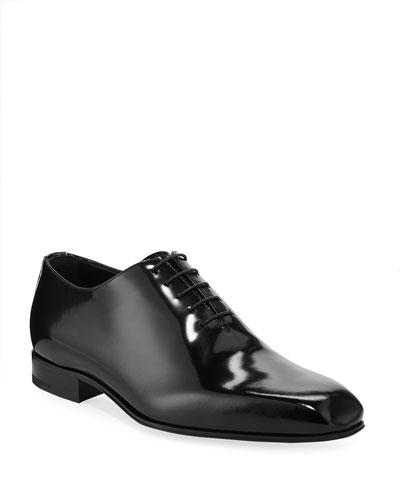 Men's Monte Carlo Whole-Cut Spazzolato Leather Oxford Shoes