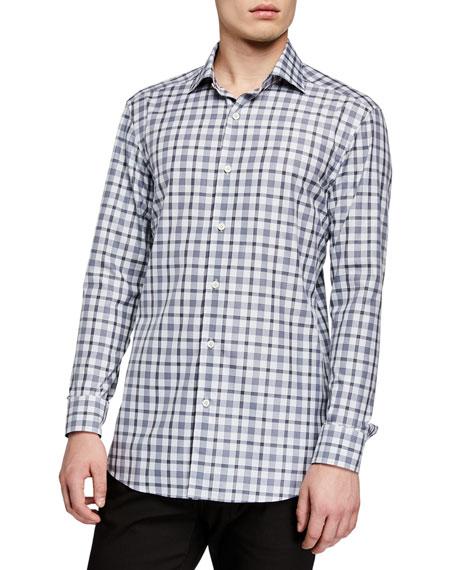 Ermenegildo Zegna Men's Traveler Plaid Regular-Fit Sport Shirt