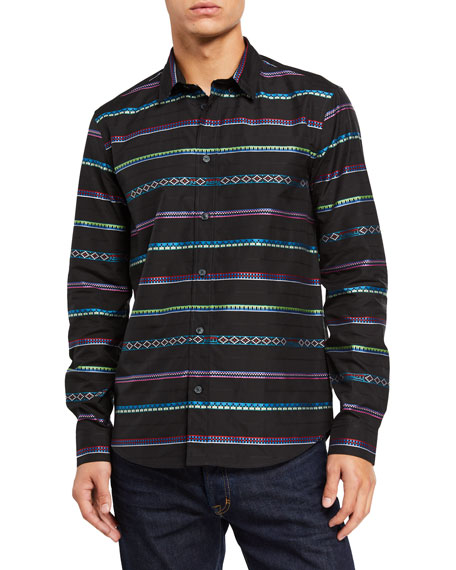 Kenzo Men's Peruvian Stripes Sport Shirt
