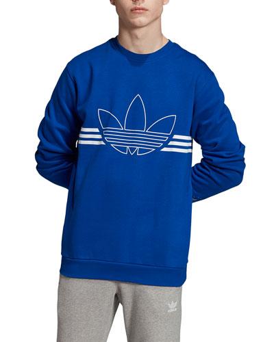 Men's Logo Outline and Stripe Sweatshirt
