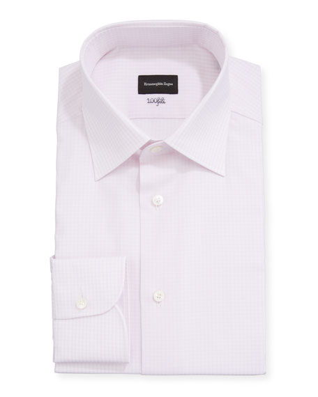 Ermenegildo Zegna Men's Check Regular-Fit Dress Shirt