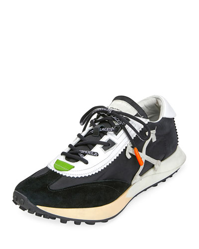 Men's Arrow Mixed-Media Running Sneakers