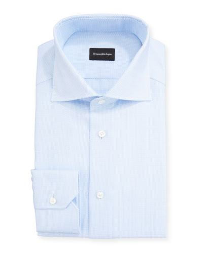 Men's Stair Weave Dress Shirt
