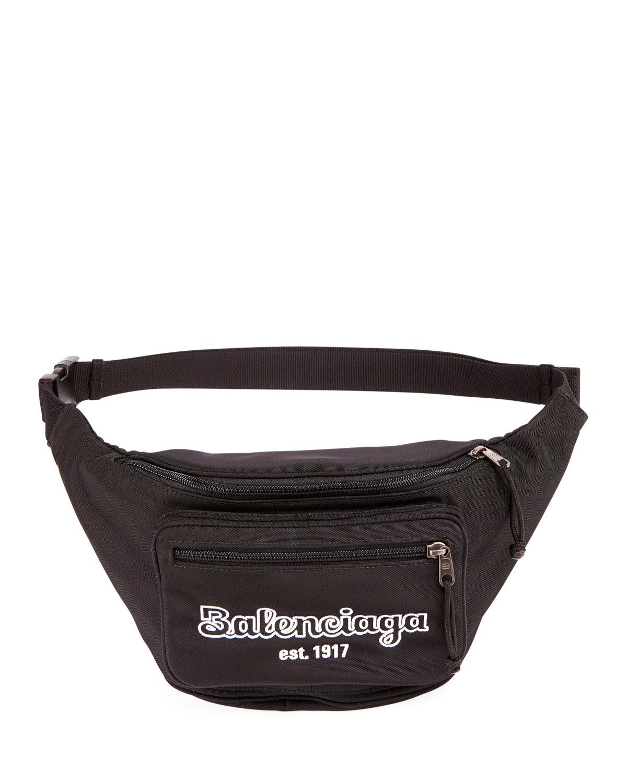 7a9d8319fad Balenciaga Men's Explorer Belt Bag/Fanny Pack In Black | ModeSens