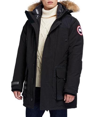 Men's Erickson Parka Coat w/ Fur Trim