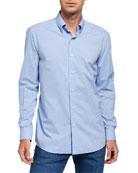 Ermenegildo Zegna Men's Solid Poplin Sport Shirt