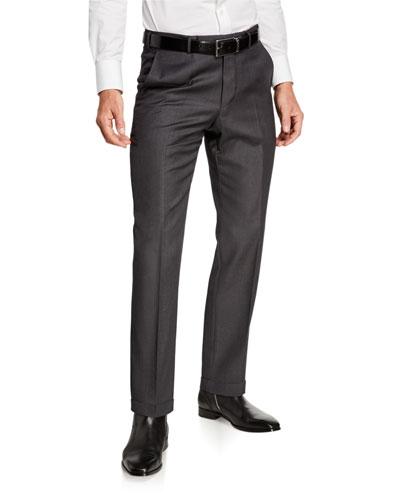 Men's Achillfarm Wool/Silk Twill Trousers