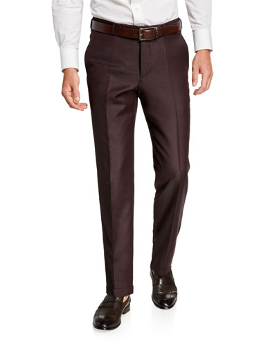 Men's Achillfarm Twill Flat-Front Trousers