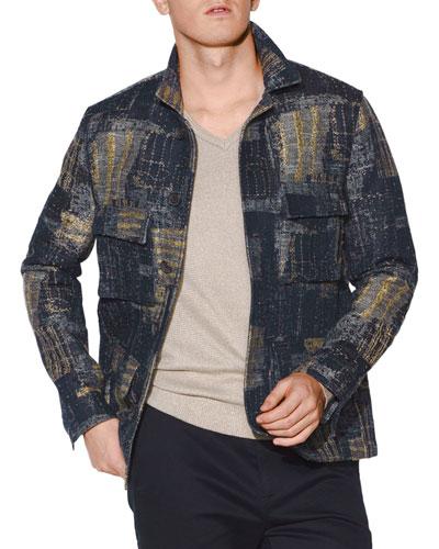 Men's Easy-Fit Textured Jacket