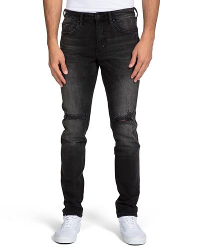 Men's Faded Distressed Jeans