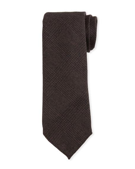 Petronius 1926 Men's Tonal Plaid Wool Tie