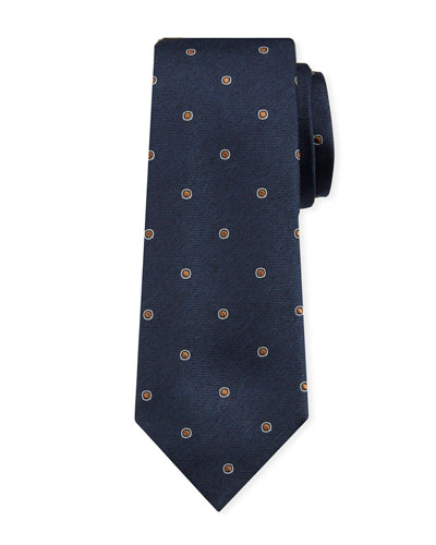 Men's Dotted Silk Tie