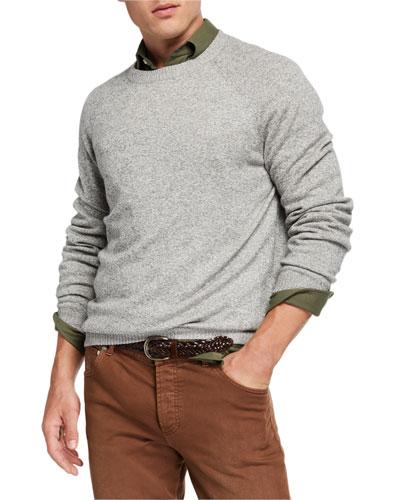 Men's Heathered Cashmere Sweater