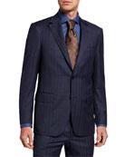 Canali Men's Windowpane Two-Piece Wool Suit