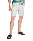 PAIGE Men's Thompson Textured Linen-Cotton Shorts
