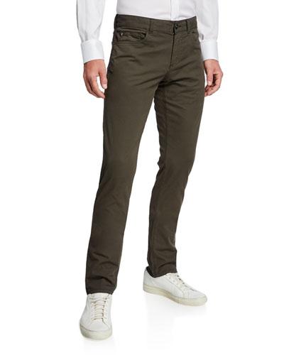 Men's Slim Cotton-Silk Stretch Pants