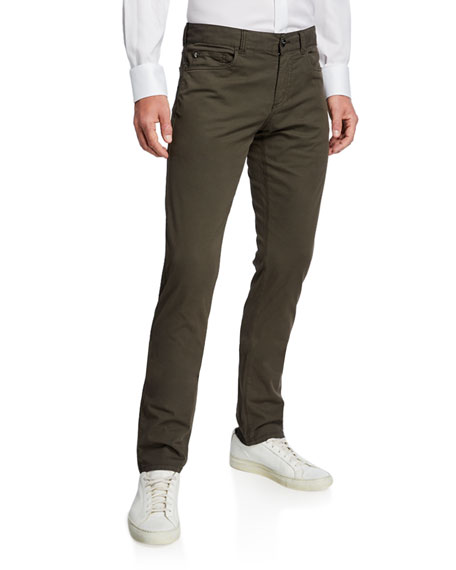Canali Men's Slim Cotton-Silk Stretch Pants