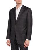 Emporio Armani Men's G-Line Tonal Plaid Wool Two-Piece