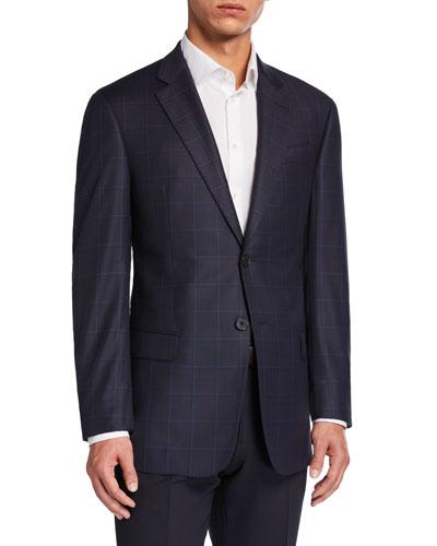 Men's G-Line Virgin Wool Plaid Sport Jacket
