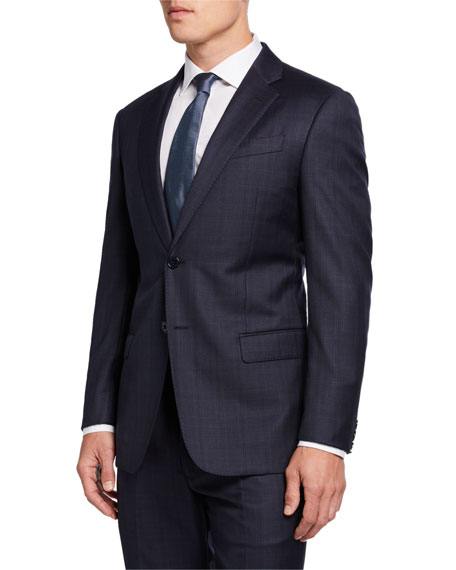 Emporio Armani Super G-Line 130s Plaid Wool Two-Piece Suit