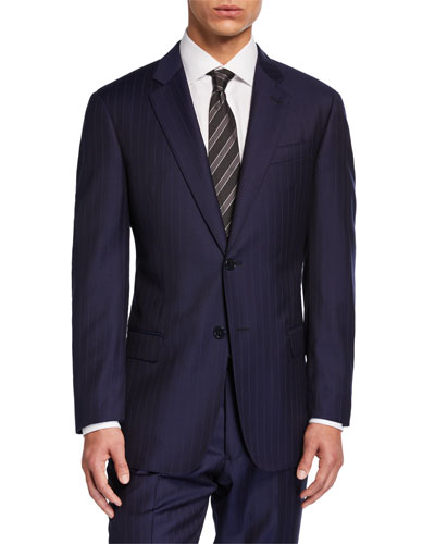 Men's G-Line Tonal Pinstripe Two-Piece Suit