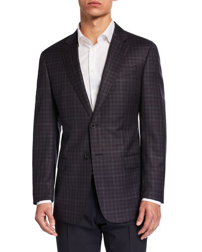 Men's G-Line District Check Two-Button Jacket