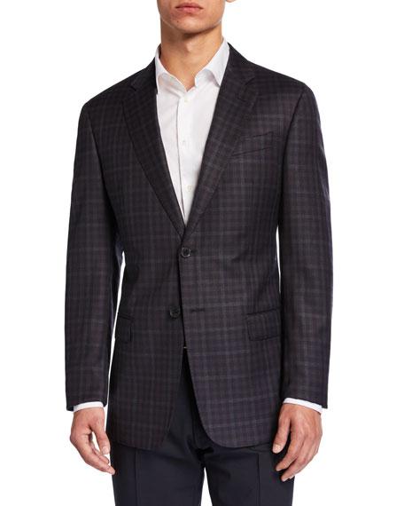 Emporio Armani Men's G-Line District Check Two-Button Jacket