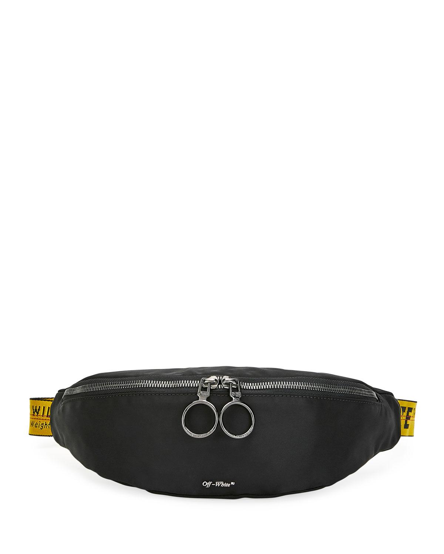 Off-White Belt-bags MEN'S WEB-STRAP BELT BAG/FANNY PACK