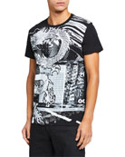 Balmain Men's Graphic Crewneck T-Shirt