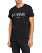 Balmain Men's Logo Crewneck T-Shirt