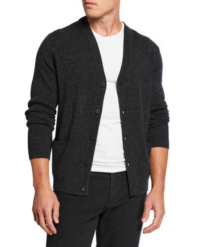 Men's Classic Button-Front Cardigan