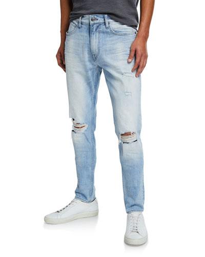 Men's Zack Distressed Knee-Rip Skinny Jeans