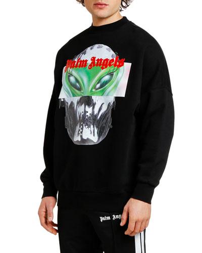 Men's Alien Graphic Crewneck Sweatshirt