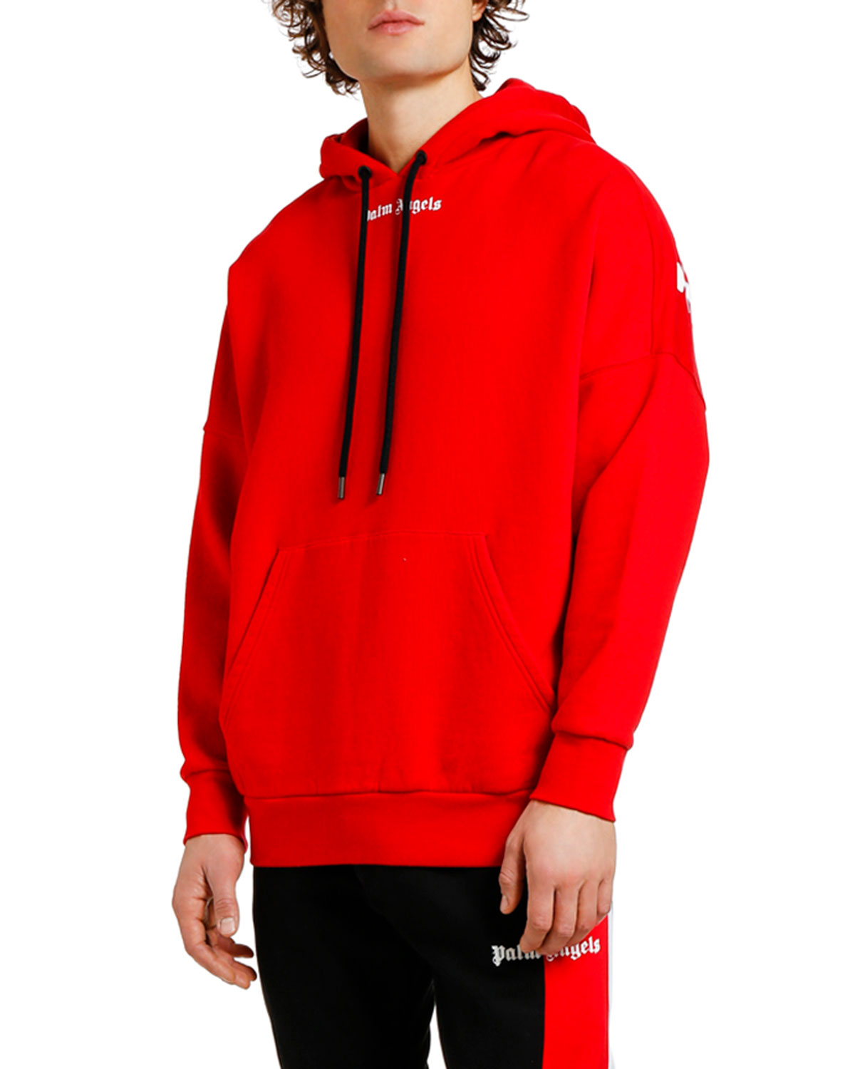 Palm Angels Tops MEN'S LOGO OVER PULLOVER HOODIE