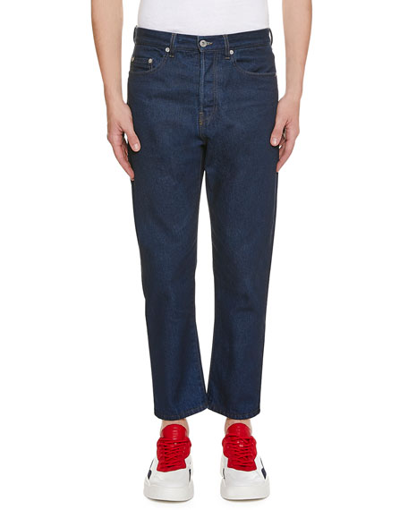 Valentino Men's Logo-Pocket Straight-Leg Jeans