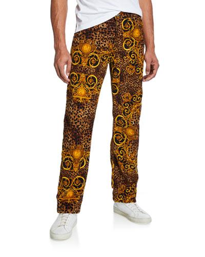 Men's Leo Baroque Velvet Jeans