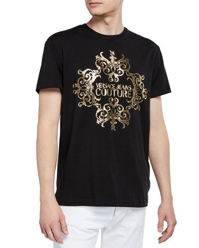 Men's Foil Baroque Logo T-Shirt