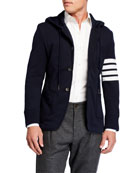 Thom Browne Men's Hooded Three-Button Jacket