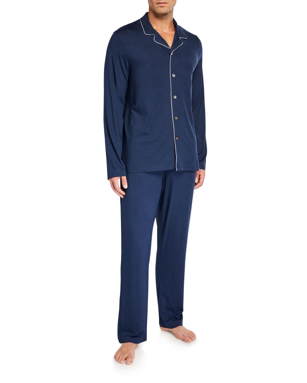 Men's Basel 1 Jersey Pajamas w/ Piping