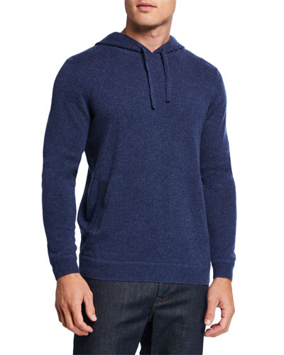 Men's Recycled Cashmere Pullover Hoodie