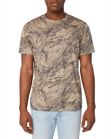 J Brand Men's Zoomah Patterned Crewneck T-Shirt