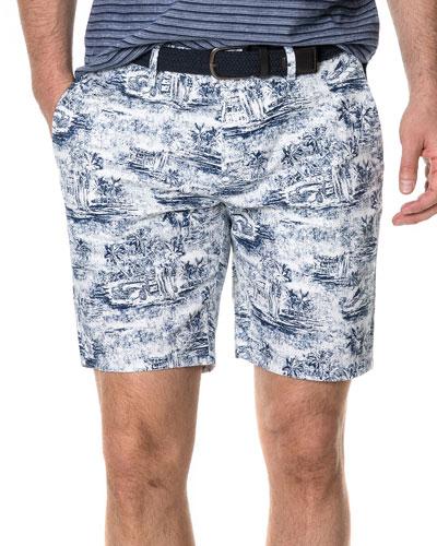 Men's Southcote Vintage Cotton-Twill Shorts