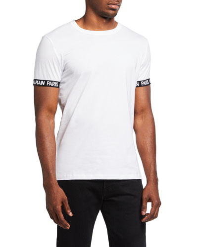 Men's Crewneck T-Shirt w/ Logo Print