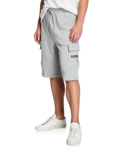 Men's Army Cargo Cotton Track Shorts