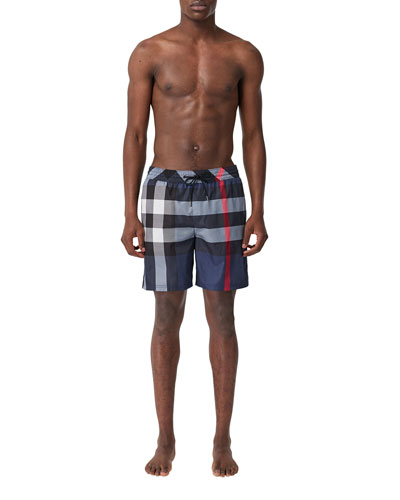b84a77394 Quick Look. Burberry · Men's Guildes Signature Check Swim Trunks