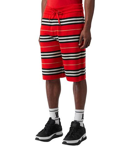 Men's Kenton Striped Wool Shorts