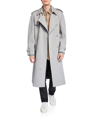 dfda21258067 Quick Look. Burberry · Men's Double-Breasted Jersey Trench Coat