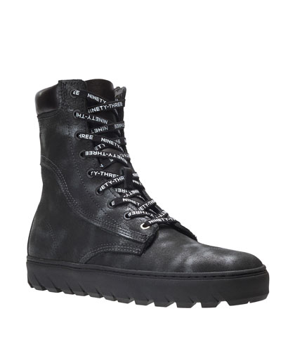 Men's x Vic Mensa 1000 Mile Tall Combat Sneakers, Anthracite